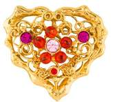 Christian Lacroix Crystal Heart Brooch