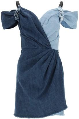 Dolce & Gabbana Two-Tone Denim Mini Dress