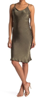 Luna Chix Satin Midi Slip Dress