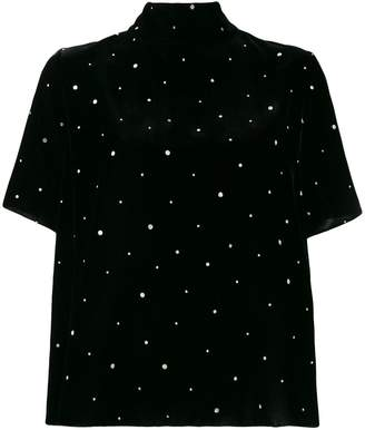 Forte Forte funnel neck polka dot top