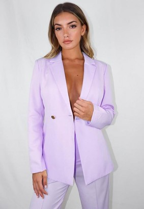 Missguided Tall Lilac Co Ord Skinny Fit Blazer