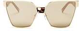 Marc Jacobs Mirrored Square Sunglasses, 57mm
