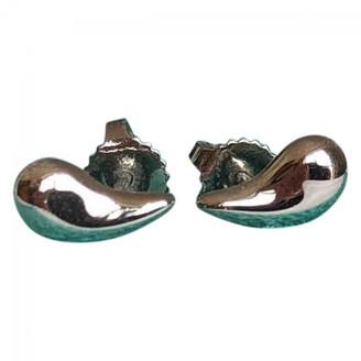 Tiffany & Co. Elsa Peretti Silver Platinum Earrings