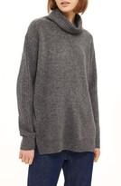 Topshop Women's Oversize Funnel Neck Sweater