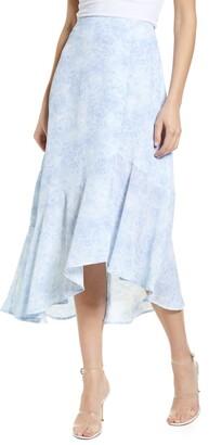 Chelsea28 Ruffle Hem Midi Skirt
