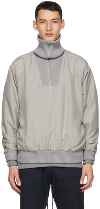 Fear of God Ermenegildo Zegna Grey Silk Anorak Jacket