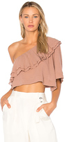 Apiece Apart Botanica One Shoulder Top in Mauve. - size 0 (also in 2)