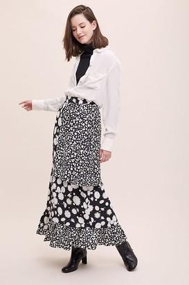 Paper London Bessie Mixed-Print Skirt