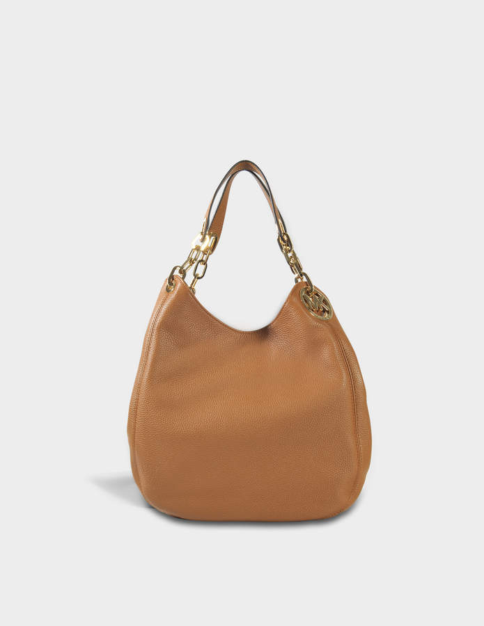 MICHAEL Michael Kors Fulton Large Shoulder Tote Bag in Acorn Soft Venus Leather