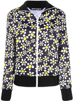 Palm Angels PALM DAISIES TRACK JACKET ANTHRACITE WH