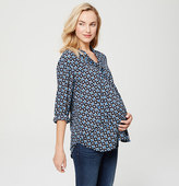 LOFT Maternity Petalwork Tie Neck Blouse