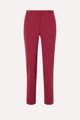 Theory Stretch-wool Straight-leg Pants - Claret