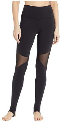 Alo High-Waist Coast Leggings (Black) Women's Casual Pants