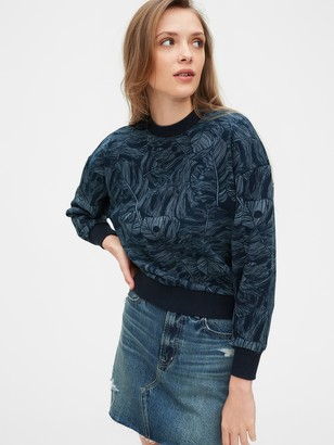 Gap Cropped Pullover Sweatshirt in French Terry