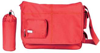 Little Company Basic Messenger Bag in Red with Orange Stitching