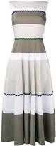 Talbot Runhof Stripe Flared Dress