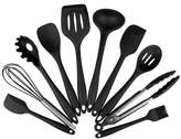 aaronam 10 Pieces Silicone Heat Resistant Kitchen Tools Cooking Utensils Set Non-toxic, Non-stick Ladle Spoon Egg Whisk Scraper Shovel Kitchenwear Cookwear Set