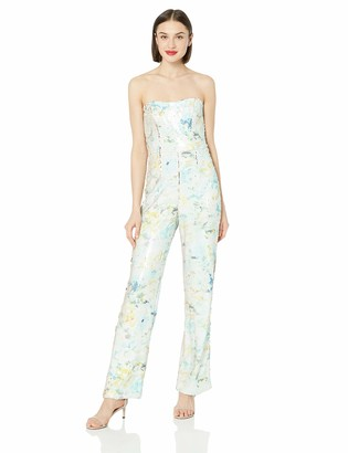 Dress the Population Women's Andy Strapless Sequin Wide Leg Jumpsuit