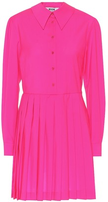 MSGM Virgin wool shirt dress