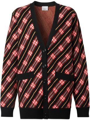 Burberry Icon stripe knitted cardigan