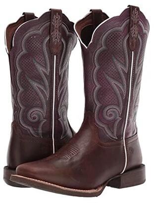 Durango Lady Rebel Pro 12 Ventilated (Distressed Cognac) Women's Shoes