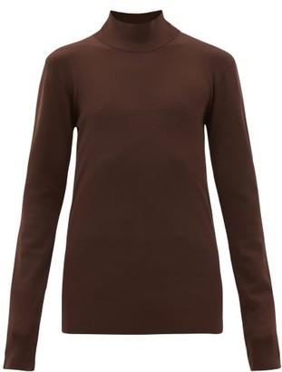 Bottega Veneta High-neck Jersey Sweater - Brown