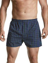Harbor Bay 2-pk Plaid Woven Boxers Casual Male XL Big & Tall