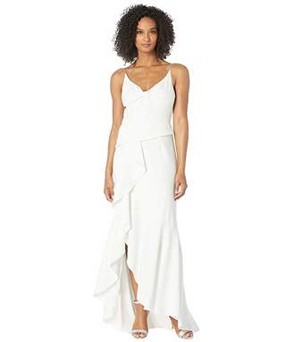 Adrianna Papell Knit Crepe Cascading Gown