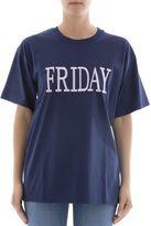 Alberta Ferretti Blue Cotton T-shirt