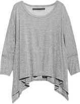 Enza Costa Draped modal-blend jersey top