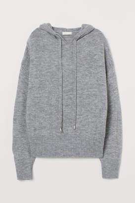 H&M Fine-knit hooded jumper