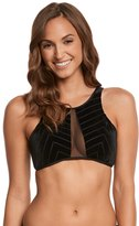 Kenneth Cole Sultry Solids High Neck Bikini Top 8158469