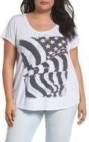 Lucky Brand Flag Graphic Tee