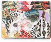 Christian Louboutin Kios Spikes Card Holder, Trash Print