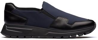Prada Panelled Slip-On Sneakers