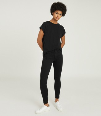 Reiss TEREZA COTTON-JERSEY T-SHIRT Black