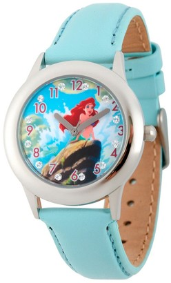 Disney Girl' Diney Prince Ariel tainle teel Glitz Watch - Light Blue
