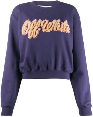 Off-White Shearling Logo Sweatshirt