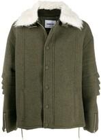 Ambush textured collar coat