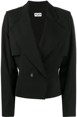 Alaïa Pre Owned 1990s Fitted Waist Double-Breasted Jacket