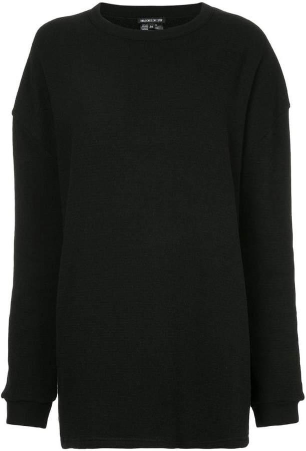 Ann Demeulemeester Dominic sheer detail sweatshirt
