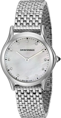 Emporio Armani Swiss Made Women's ARS7501 Analog Display Swiss Quartz Silver Watch