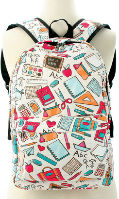 Sleepyville Critters Women's Backpacks Multi - White & Pink Back-to-School Backpack