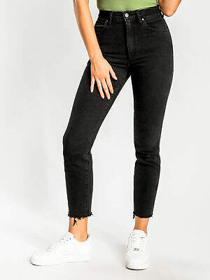 Wrangler New Womens Drew Cropped Jeans In Levee Black Jeans Cropped Length