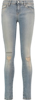 IRO Julie Mid-Rise Distressed Faded Skinny Jeans