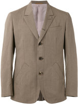 Caruso triple button blazer - men - Cotton/Linen/Flax/Cupro/Viscose - 48