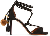 Dolce & Gabbana Black Suede Lace-up Sandals