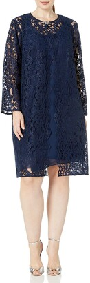 Chetta B Women's Size Lace Jacket Dress Plus