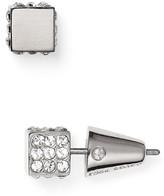 Eddie Borgo Pavé Cube Stud Earrings