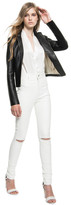 LAMARQUE - Esme Leather Jean With Slits In White